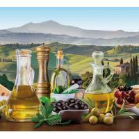 Кухонный фартук (стеновая панель) «Греция (оливки)», 600 * 1000 АБС